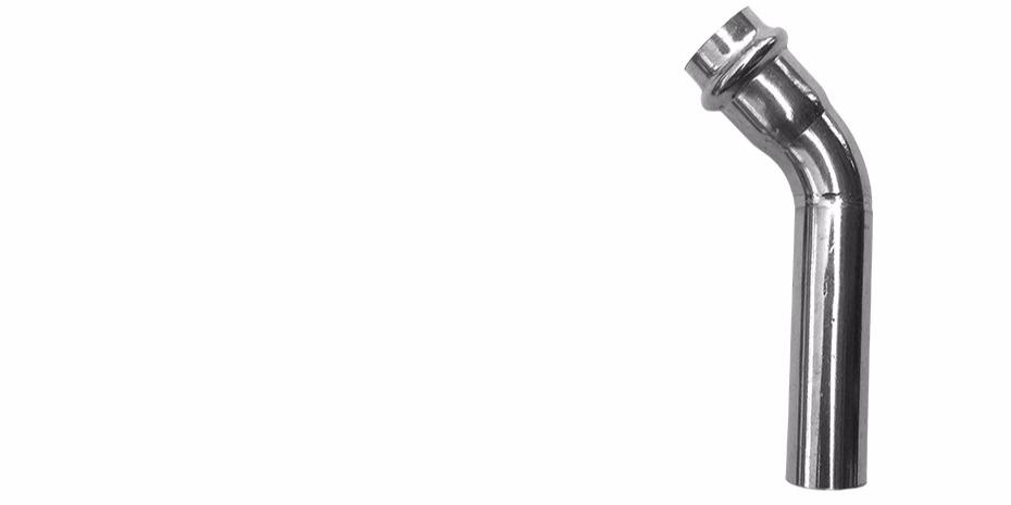 双卡压45°B型等径弯头厂家
